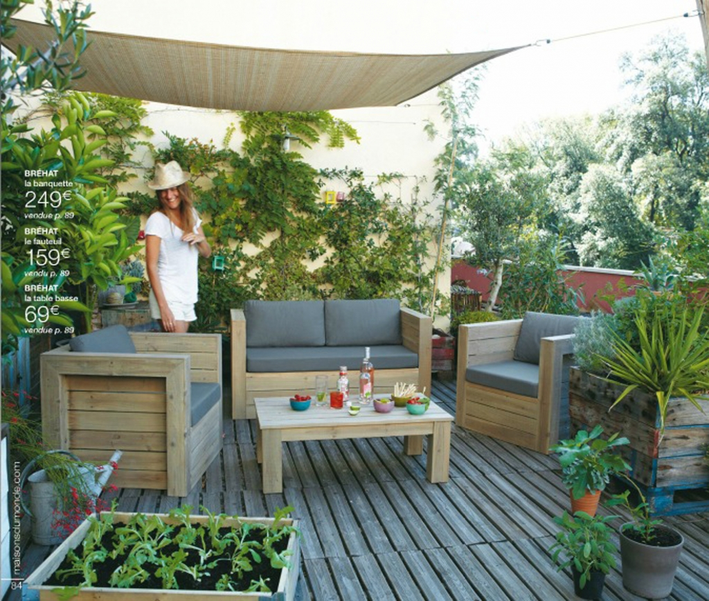 Slowgarden et maison du monde lejardindeclaire - Amenagement terrasse et jardin photo ...