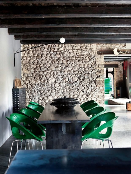 Green loft / via Lejardindeclaire