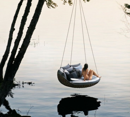 by lejardindeclaire,mobilier outdoor,lit suspendu,lit balinais,outdoor bed