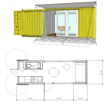 Dream homes lejardindeclaire - Amenager un container en maison ...