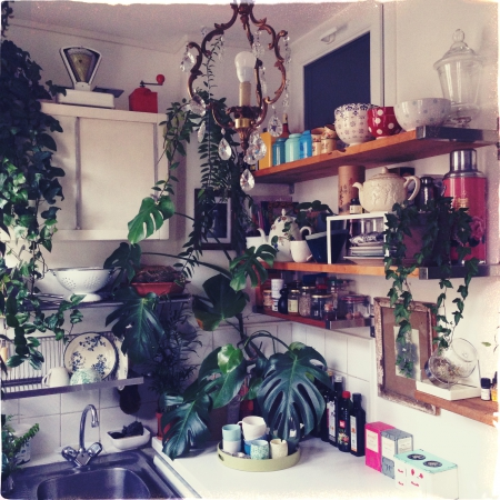 Jungle Kitchen via Lejardindeclaire / Photos Cécile Larroche.