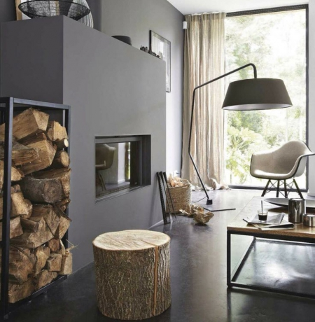 un tabouret ou une table d 39 appoint avec un tronc d 39 arbre lejardindeclaire. Black Bedroom Furniture Sets. Home Design Ideas