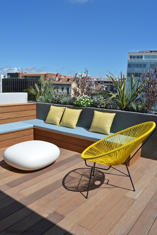 Relooking terrasse Slowgarden / Marseille, France.
