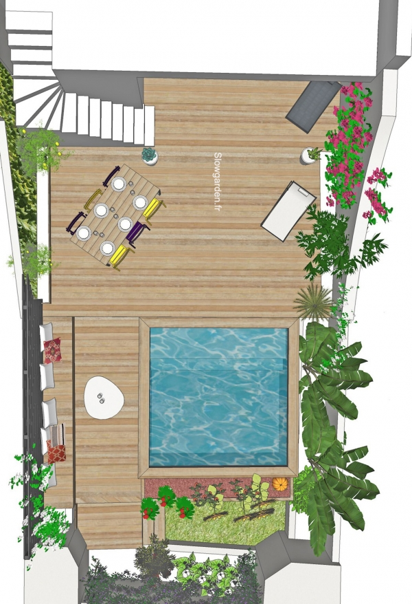 slowgarden, mini jardin, mini piscine, marseille