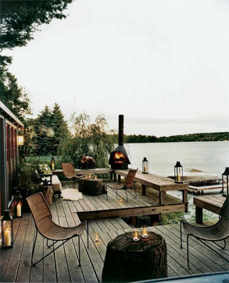 Outdoor fireplace / via Lejardindeclaire